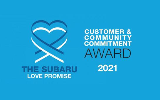 The Subaru Love Promise Customer & Community Award 2021